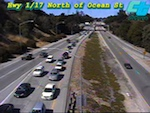 Caltrans Highway 17 near Ocean Webcam