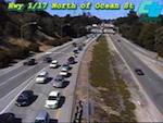 Caltrans Highway 17 near Ocean Webcam